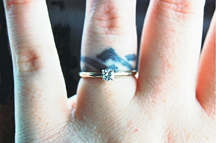 Gay and lesbian wedding rings for Finger tattoo cost
