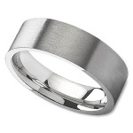 Unisex Wedding Band in 8mm with Satin Finish Center