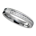Unisex Wedding Band in 4mm with White Carbon Fiber Inlay