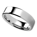 Unisex Wedding Ring in 6mm with Flat Surface