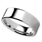 Unisex Wedding Band in 8mm with a High Polished Flat Surface