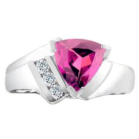 Pink Triangle Wedding Ring