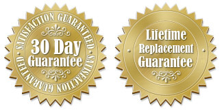30 day return policy plus a lifetime replacement guarantee
