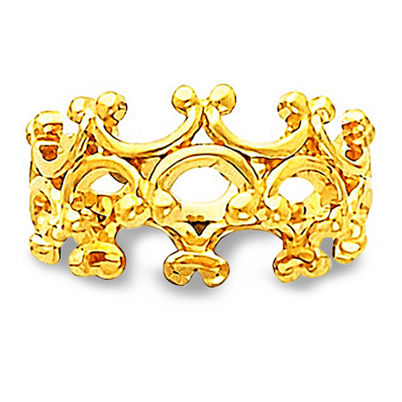 Medieval Inspired 14K Yellow Gold Wedding Band